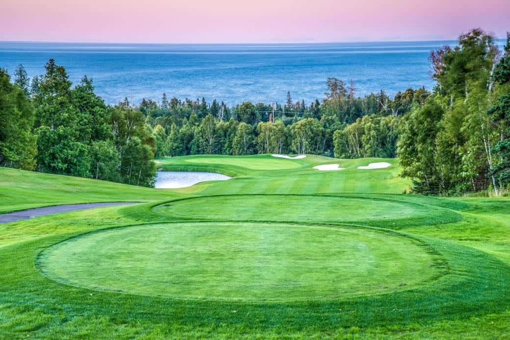 Golfing on the north shore